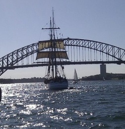 tall ship on harbour